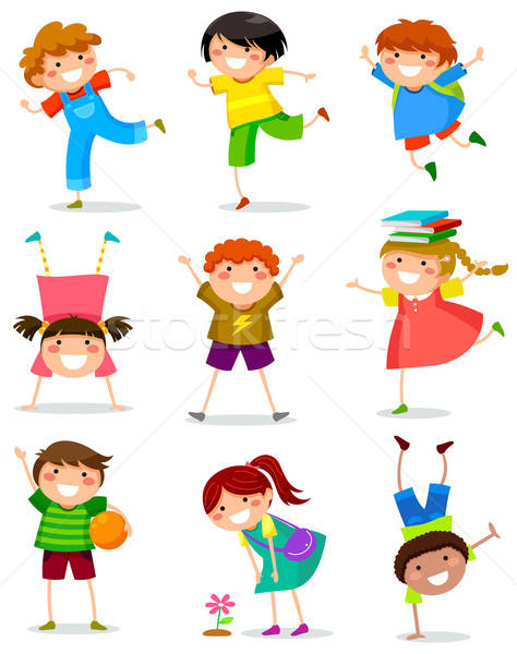 Stock photo: kids collection