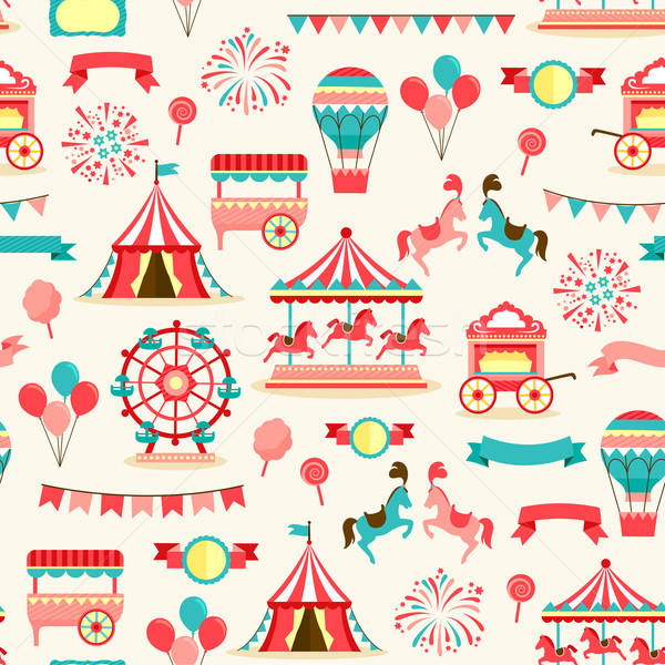 Seamless pattern - vintage carnival Stock photo © ayelet_keshet