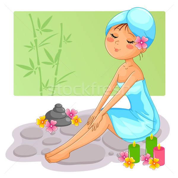 少女 スパ かなり リラックス 女性 幸せ ストックフォト © ayelet_keshet