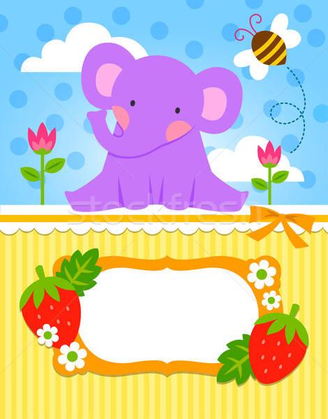 baby elephant card Stock photo © ayelet_keshet