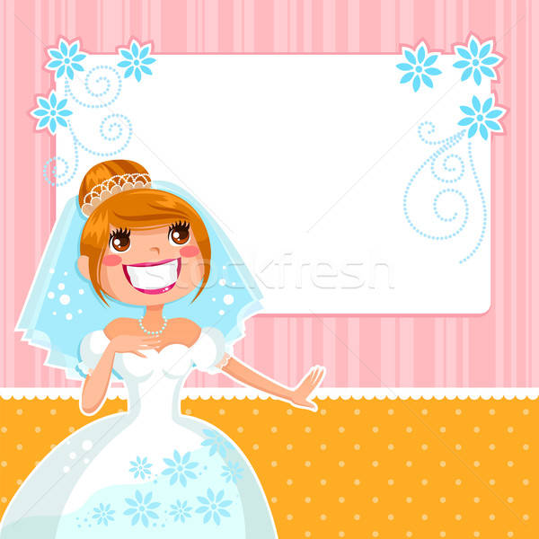 happy bride Stock photo © ayelet_keshet