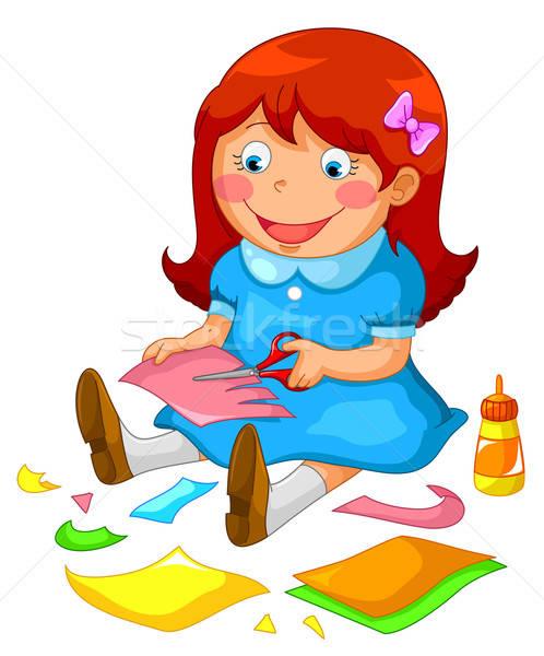 crafty girl Stock photo © ayelet_keshet