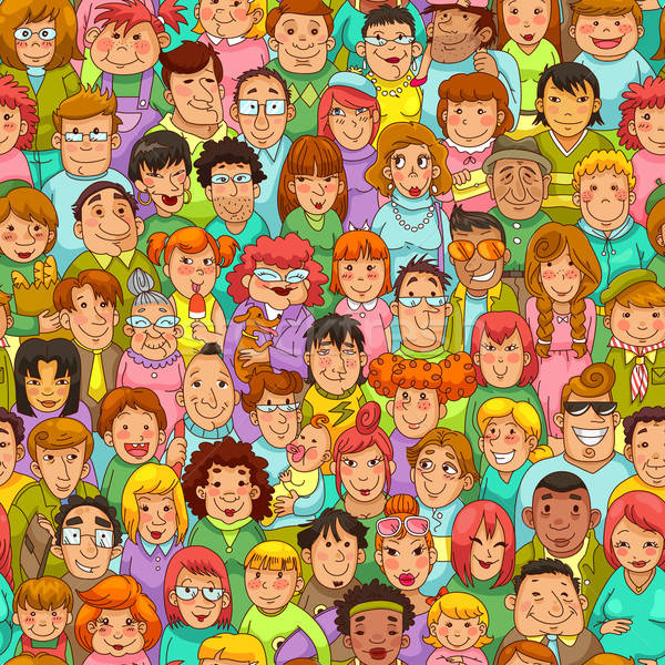 cartoon people pattern Stock photo © ayelet_keshet