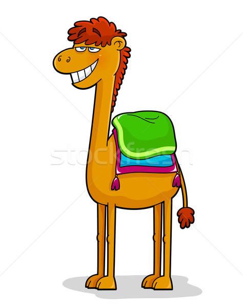 Vicces teve rajz állat mosolyog aranyos Stock fotó © ayelet_keshet
