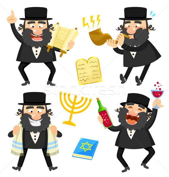 cartoon rabbi Stock photo © ayelet_keshet