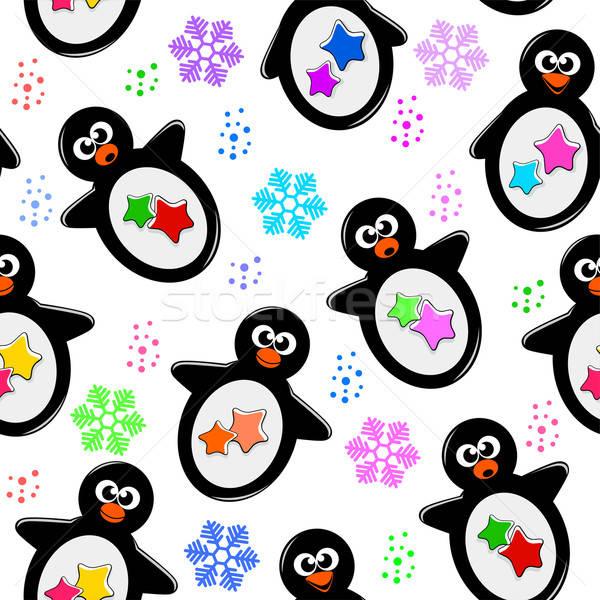 penguin pattern Stock photo © ayelet_keshet
