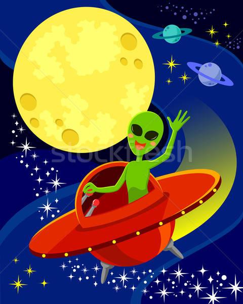 外国 スペース 漫画 飛行 宇宙船 ストックフォト © ayelet_keshet