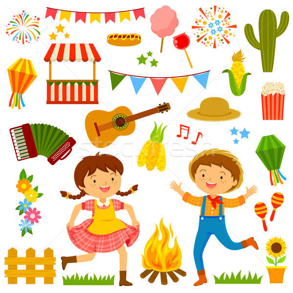 Festa Junina cartoons seta Stock photo © ayelet_keshet