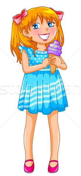 少女 アイスクリーム 若い女の子 孤立した 白 ストックフォト © ayelet_keshet
