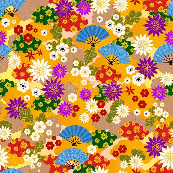 japanese kimono pattern Stock photo © ayelet_keshet