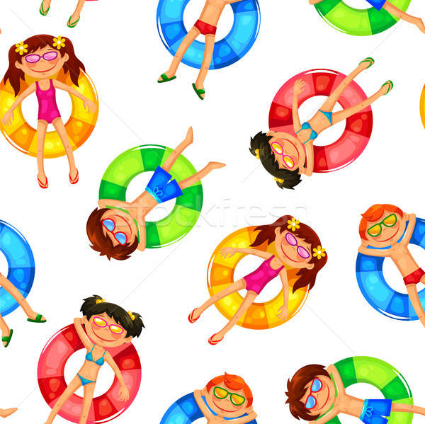 floating kids pattern Stock photo © ayelet_keshet