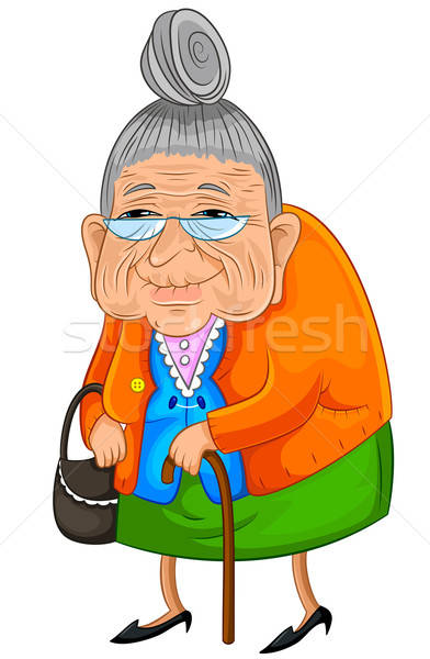Stock photo: happy granny