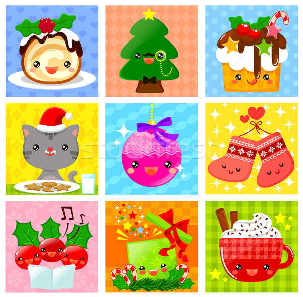 cute Christmas collection Stock photo © ayelet_keshet
