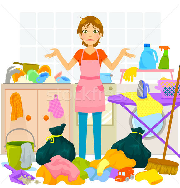 daunting housework Stock photo © ayelet_keshet