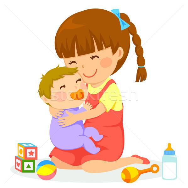 少女 赤ちゃん 女の子 笑顔 幸せ ストックフォト © ayelet_keshet