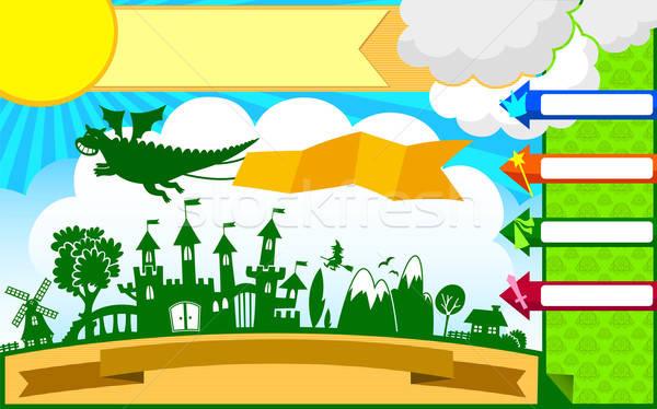 Stock photo: fairytale template