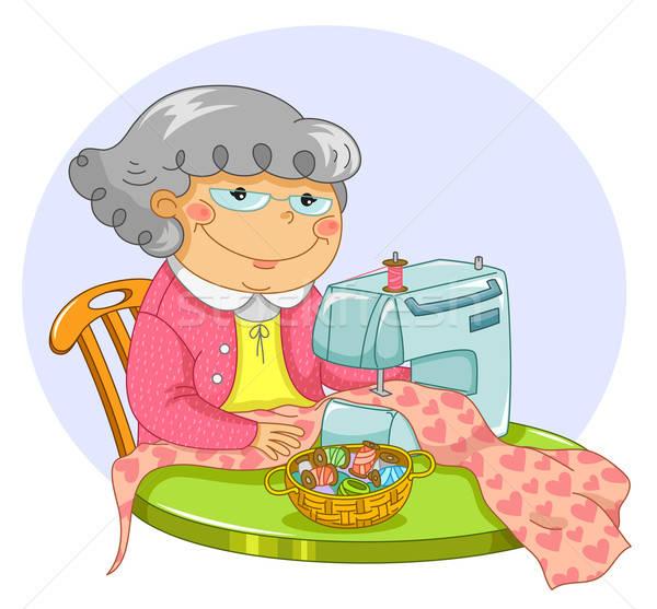 old lady sewing Stock photo © ayelet_keshet