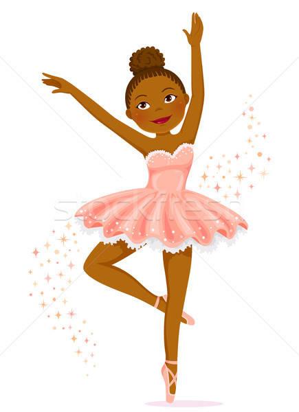 Dark skinned ballerina Stock photo © ayelet_keshet