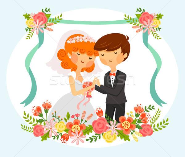 bride and groom Stock photo © ayelet_keshet