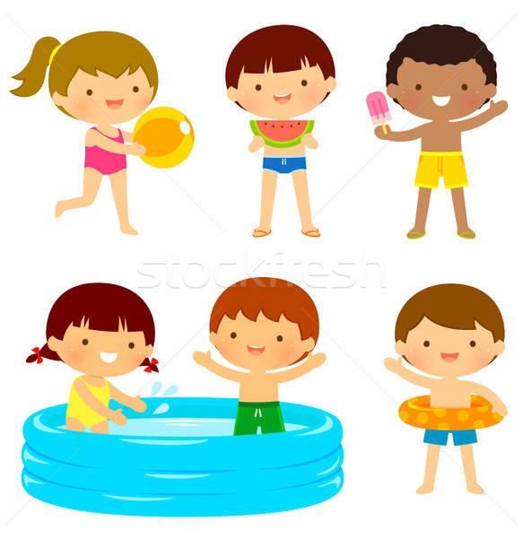 kids at the beach or the pool Stock photo © ayelet_keshet