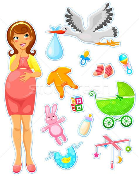 赤ちゃん 妊婦 コレクション 家族 少女 幸せ ストックフォト © ayelet_keshet