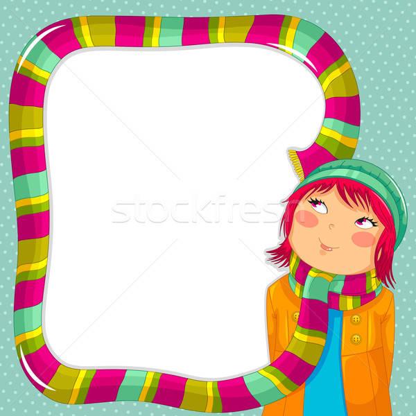 冬 フレーム 少女 着用 カラフル スカーフ ストックフォト © ayelet_keshet