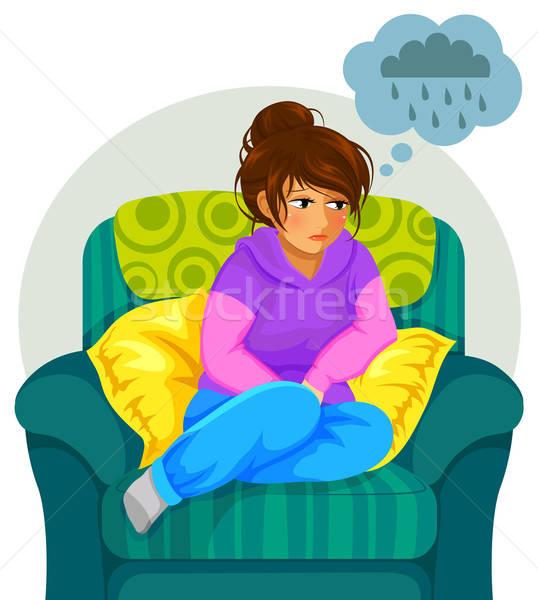 depressed girl Stock photo © ayelet_keshet