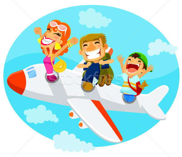 people in an airplane Stock photo © ayelet_keshet