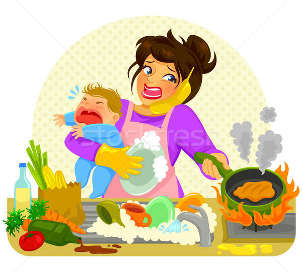 busy mom Stock photo © ayelet_keshet