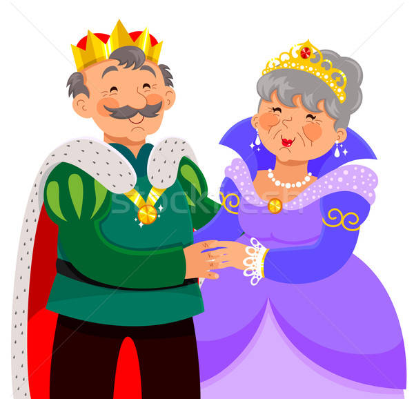 mature king and queen Stock photo © ayelet_keshet