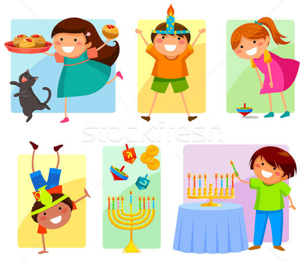 kids on Hanukkah Stock photo © ayelet_keshet
