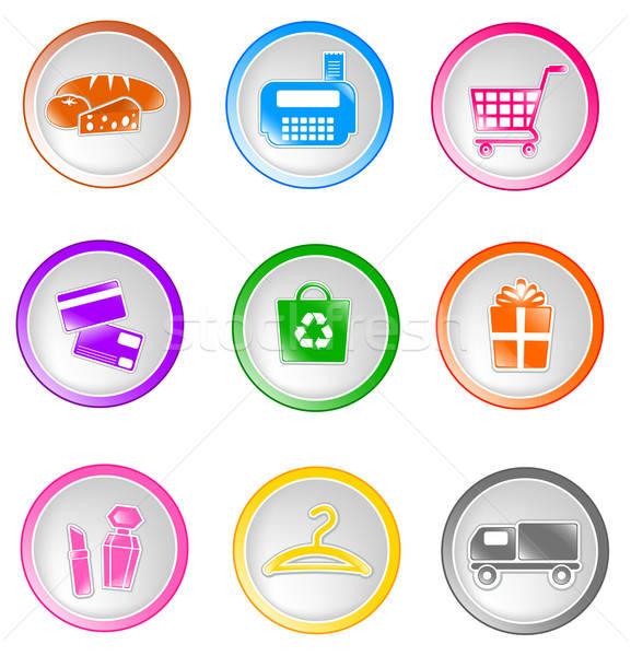 shopping icons Stock photo © ayelet_keshet