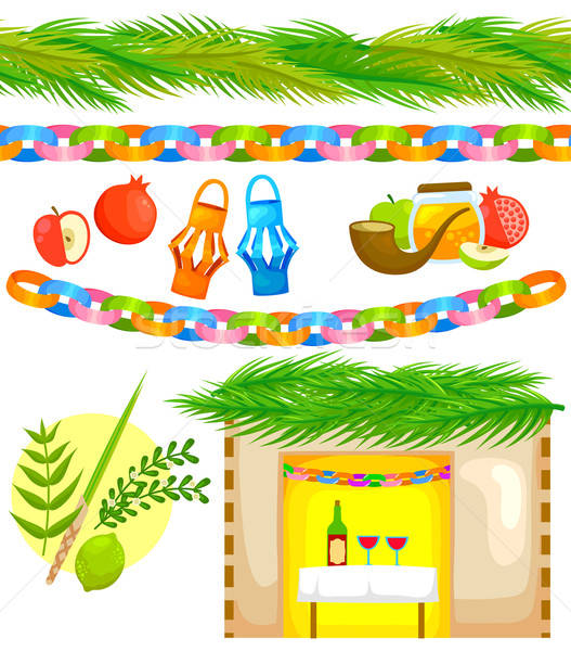 Ingesteld communie naadloos strips palm papier Stockfoto © ayelet_keshet