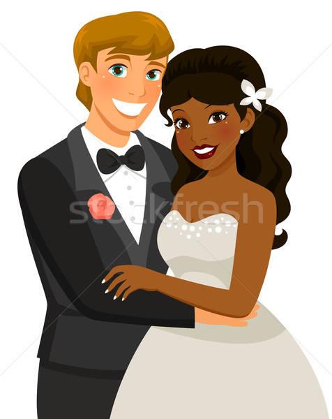 結婚 カップル 結婚式 男 幸せ 花嫁 ストックフォト © ayelet_keshet