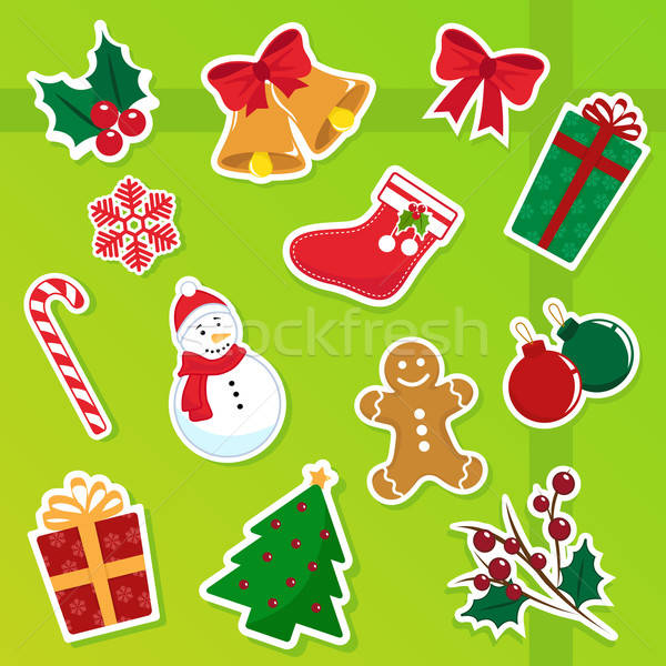 Christmas iconen collectie cute boom partij Stockfoto © ayelet_keshet