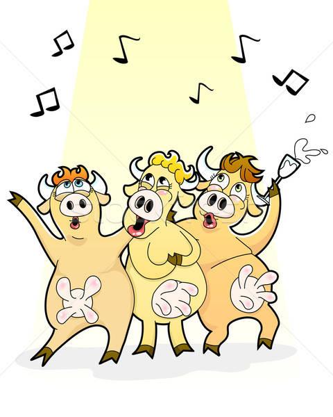 Singing cows Stock photo © ayelet_keshet