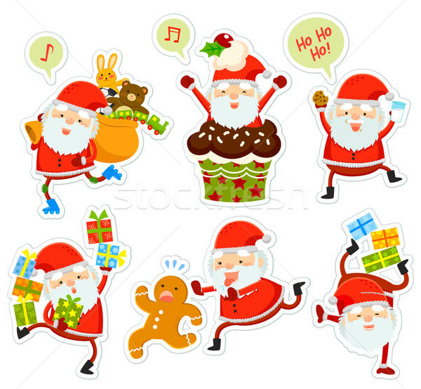 funny Santa Claus cartoons Stock photo © ayelet_keshet
