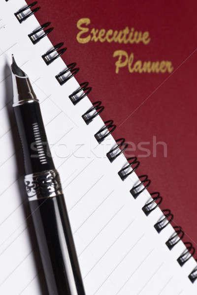 Igazgató tervező jegyzet könyv kilátás spirál Stock fotó © azamshah72