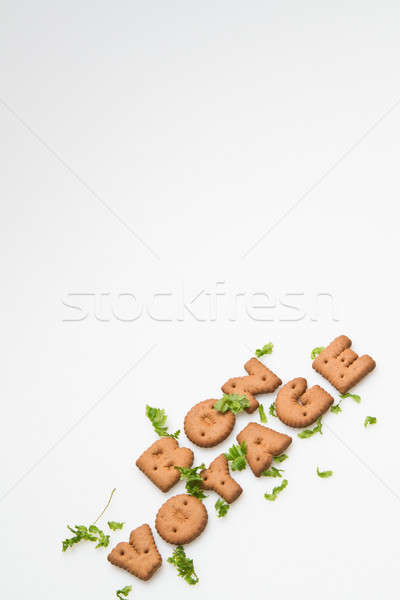 Bon Voyage Biscuits and Leaves Slanting III Stock photo © azamshah72