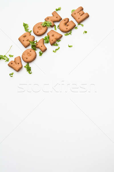 Bon Voyage Biscuits and Leaves Slanting IV Stock photo © azamshah72