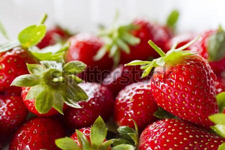 Strawberry on white Stock photo © azamshah72