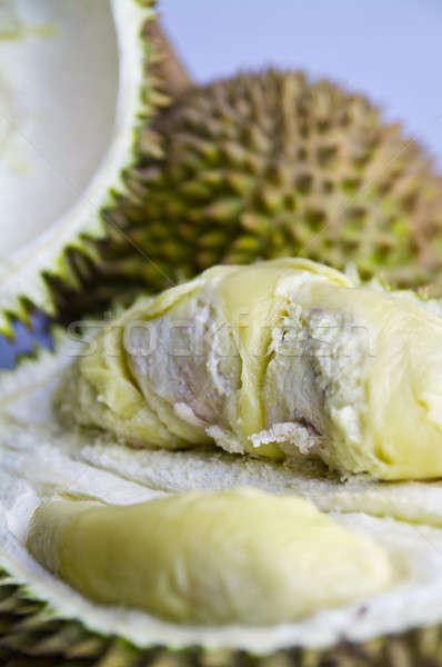 Peeled Durian Closeup Stock photo © azamshah72