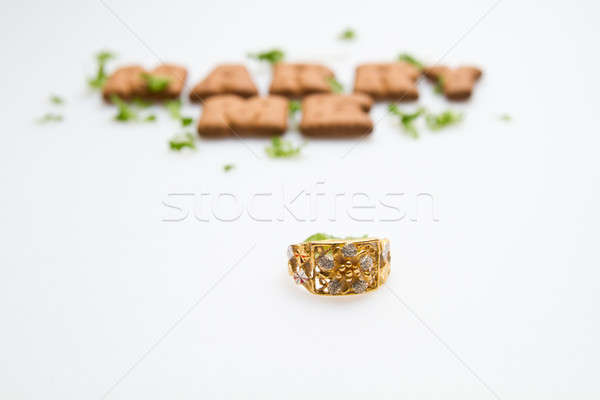 Marry Me Ring and Biscuits Stock photo © azamshah72