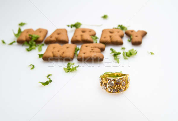Marry Me Biscuits And Leaves III Stock photo © azamshah72