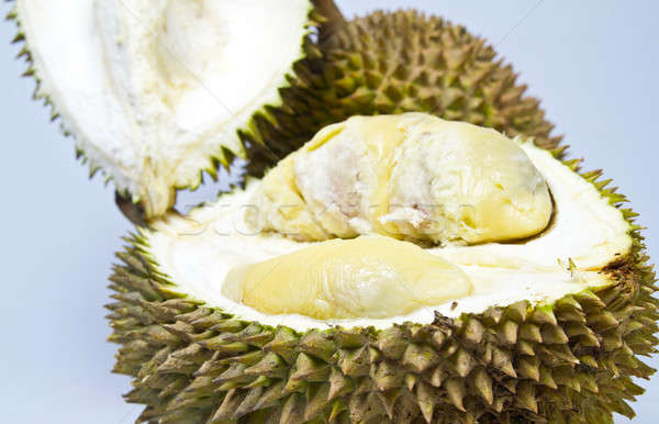 Opened Durian Closeup Stock photo © azamshah72