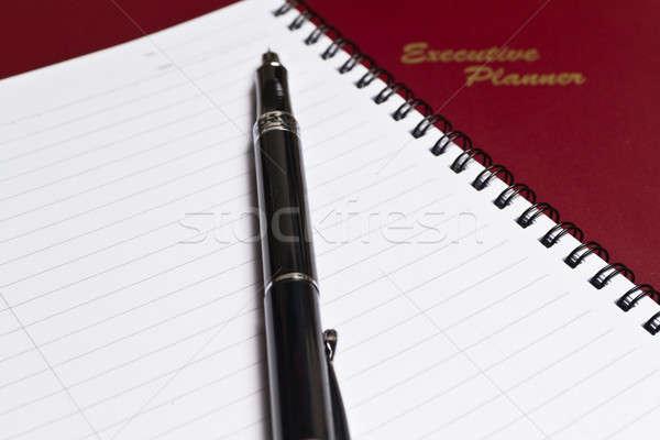 Igazgató tervező jegyzet könyv barna spirál Stock fotó © azamshah72