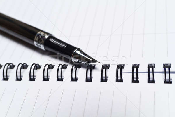 Opened Note Book and a Pen II Stock photo © azamshah72