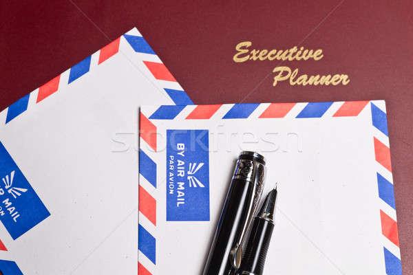Uitvoerende ontwerper twee witte lucht mail Stockfoto © azamshah72
