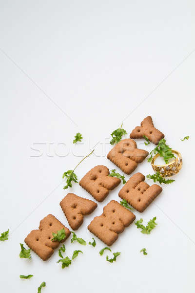 Marry Me Biscuits And Leaves II Stock photo © azamshah72