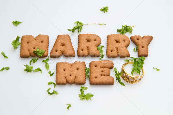 Marry Me Biscuits And Leaves Stock photo © azamshah72